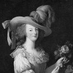Marie Antoinette mit opulentem Federhut